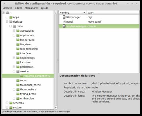 Editor configuración