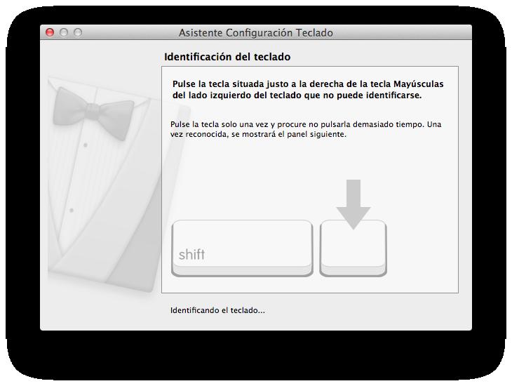 Asistente de configuración del teclado